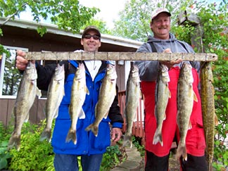 Caught off the dock on Lake Osakis